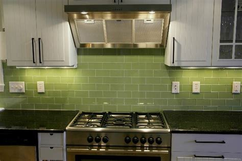 green tile backsplash kitchen green subway tile kitchen backsplash supreme glass tiles