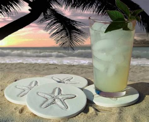 Starfish Drink Coasters Absorbent Coasters Beach House