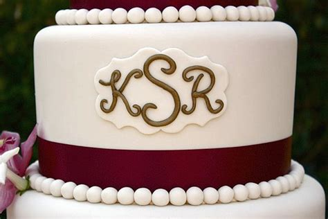 HD wallpapers wedding cake pictures with monograms