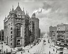 Bustling Buffalo, New York, circa 1908. Erie County ...