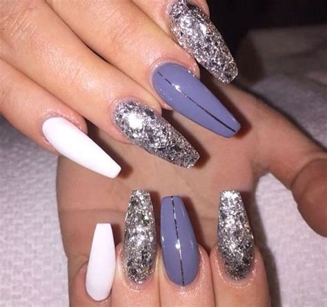 acrylic coffin nail color designs  fall  winter