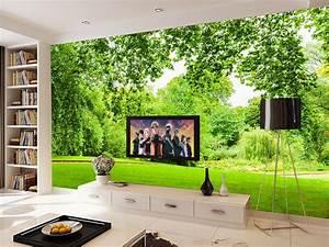 customize luxury wallpaper Green grass landscape 3d wall ...