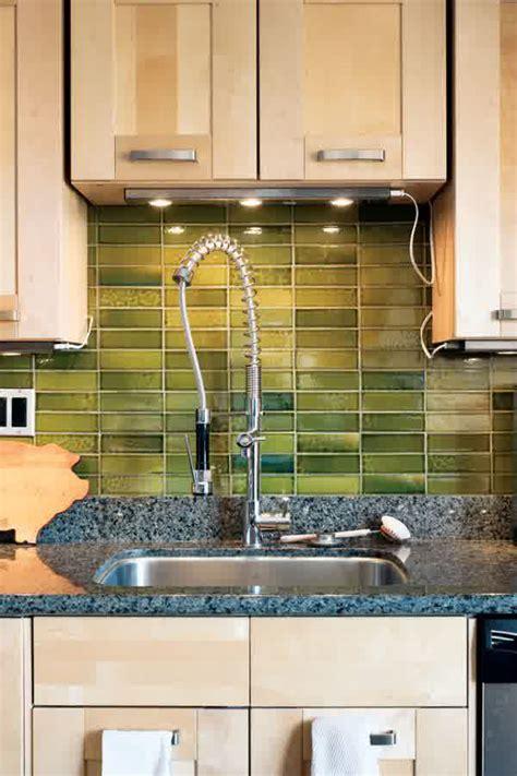 green tile backsplash kitchen rustic backsplash ideas homesfeed 4042