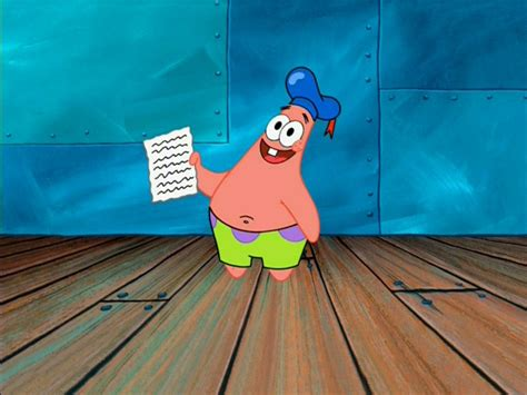 Patrick Star/gallery/sing A Song Of Patrick