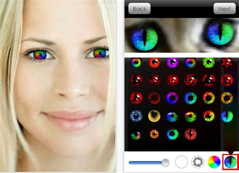 app that changes eye color and funky apps for changing your eye color testing