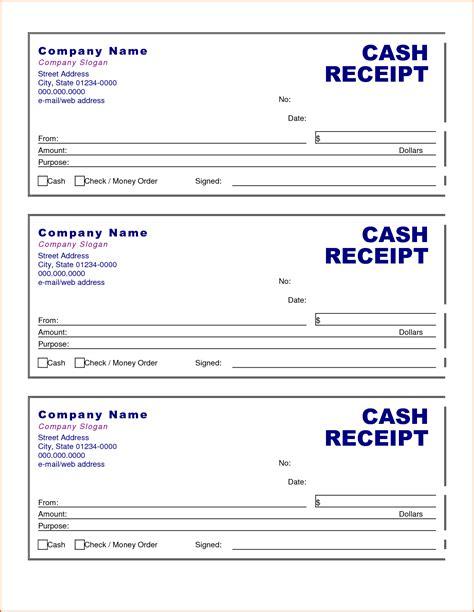 7 cash receipt template authorizationletters org