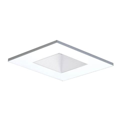 3 in white recessed lighting square shower trim with