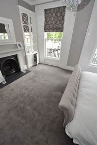 Elegant cream and grey styled bedroom carpet by bowloom for Bedroom carpet colours
