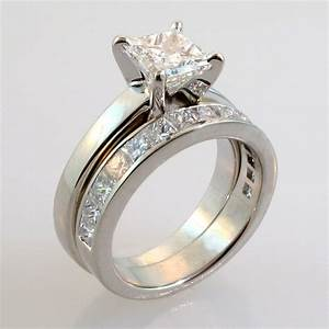 engagement and wedding ring sets weneedfun With wedding ring band sets
