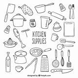 Vector Kitchen Supplies Sketchy Ai Edit Ago sketch template