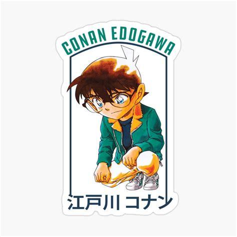 detective conan edogawa sticker by badrelnajjar in 2021