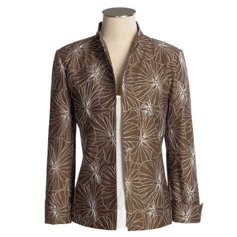 austin reed embroidered silk jacket  women