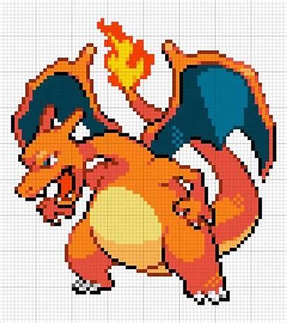 Charizard Pokemon Sprite Pixel Minecraft Mega Perler