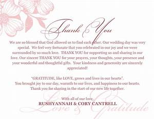 wedding thank you card sayingspng thank you notes With thanks for wedding invitation images
