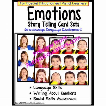 Emotions Cards Story Special Telling Education Development