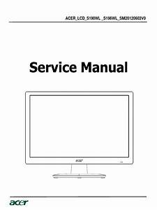 Acer S190wl S196wl 2chip 20120602 A00 Service Manual