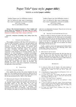paper title (paper subtitle)