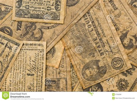 colonial money stock photo image  dollar america finance
