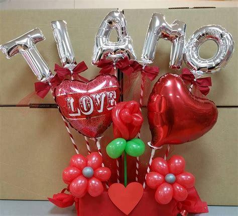candele san valentino san valentino centrotavola di palloncini a bouquet con