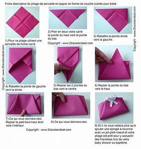 Pliage De Serviette En Papier Facile : pliage de serviettes de table en papier pliage de papier ~ Melissatoandfro.com Idées de Décoration