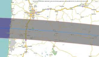 Solar Eclipse 2017 Oregon Path Map