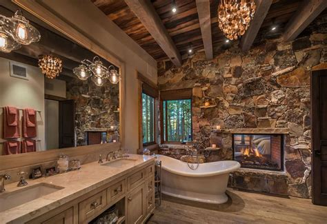 rustic bathroom ideas inspired  natures beauty