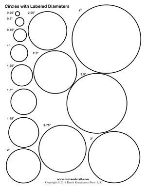 Circle Template Printables  Tim's Printables