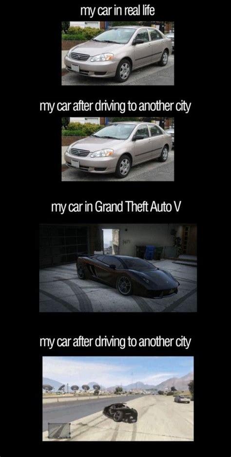 Gta V Memes - gta v vs reality meme funny goblin