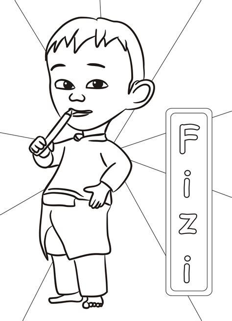 fizi upin ipin coloring pages
