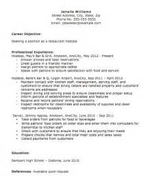 hostess server resume exle hostess description for resume slebusinessresume slebusinessresume