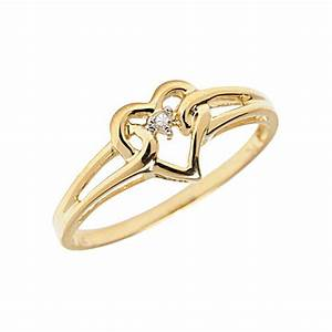Home Jewelry Jewelry Deals K Yellow Gold Diamond Heart ...