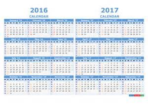 2017 Calendar with Week Numbers Printable