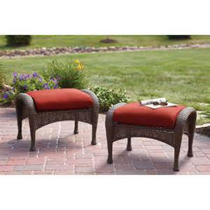 better homes and gardens lake island ottomans set of 2 patio furniture walmart