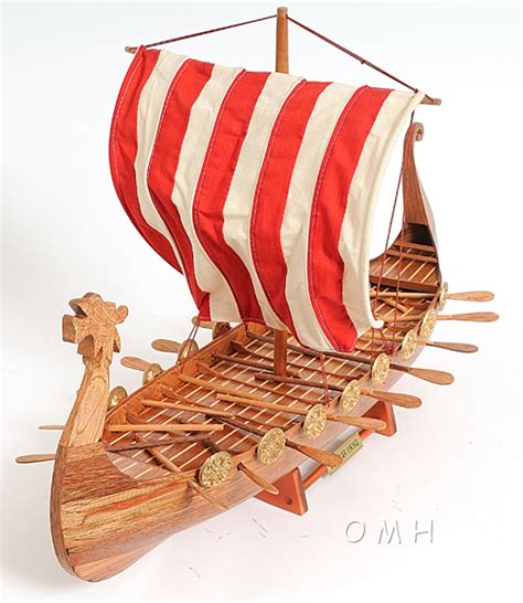 Viking Longboat Model by Drakkar Viking Longboat Ship Model 24in