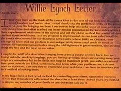 willie lynch letter william lynch letter crna cover letter 38916
