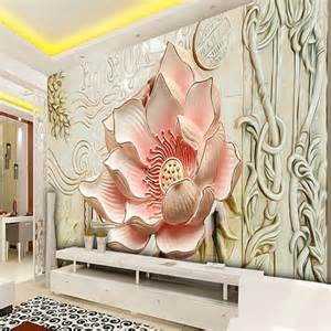 beibehang photo wallpaper relief lily magnolia