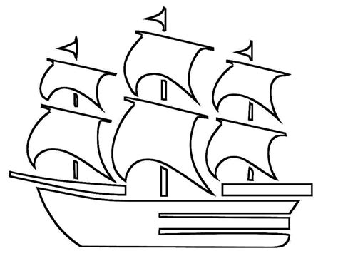 Mayflower Coloring Pages - Costumepartyrun
