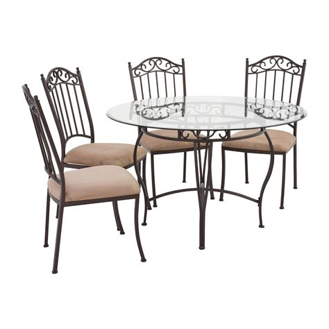 Table Sets Wrought Iron by 72 Wrought Iron Glass Table And Chairs Tables