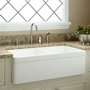 33 quot baldwin double bowl fireclay farmhouse sink with