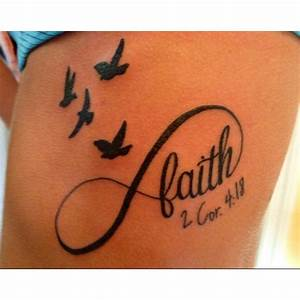 Faith Infinity & birds | Tattoos | Pinterest | First ...