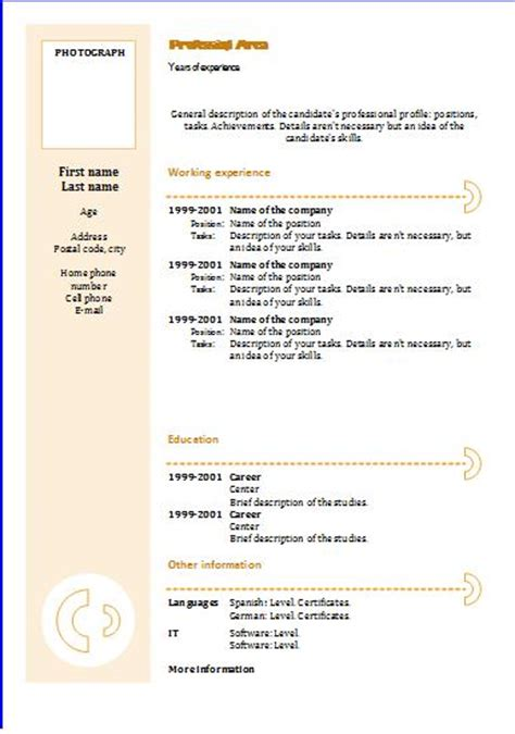 cv templates chronological 3 resume templates