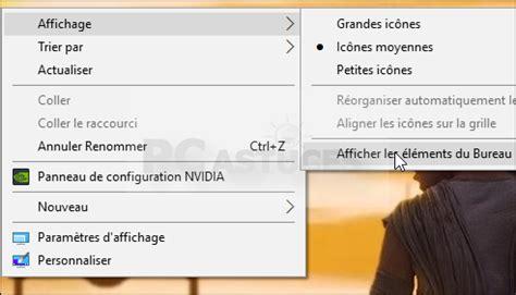 agrandir icones bureau masquer les icônes du bureau windows 10 jasmo informatique