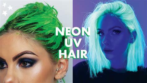 Neon Uv Green Hair Dye Tutorial Youtube