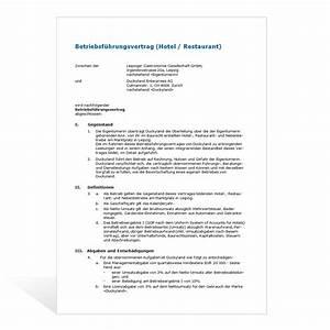 Recht Auf Rechnung : muster betriebsf hrungsvertrag ~ Themetempest.com Abrechnung