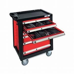 Servante A Roulette : servante d 39 atelier 7 tiroirs toute equipee 217 outils chrome vanadium ~ Melissatoandfro.com Idées de Décoration