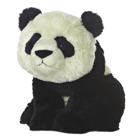 destination nation panda bear stuffed animal by aurora