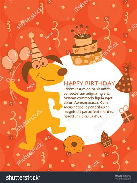 happy birthday card design kids stock vector