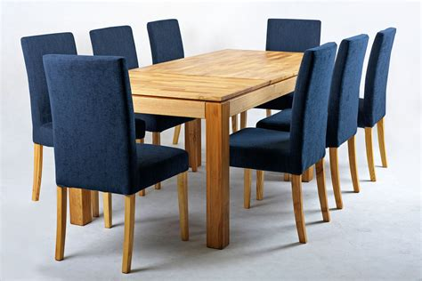 vasa modern fabric dining chair with removable cover navy blue