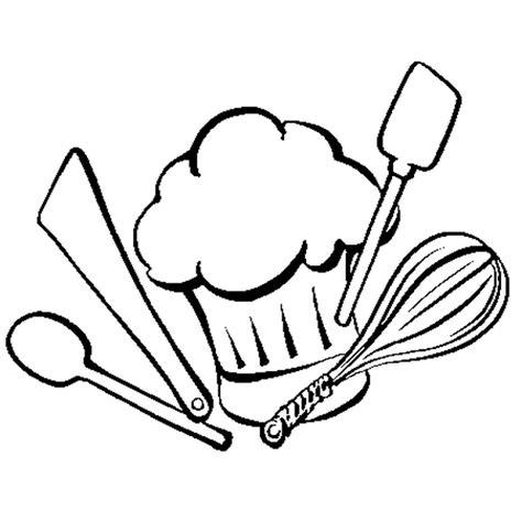 coloriage de cuisine dessins ustensiles de cuisine
