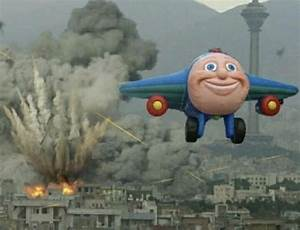 Plane Flying From Explosions Blank Template